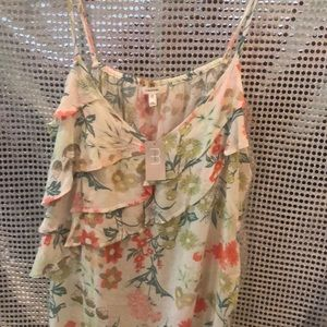 Brand new maurices flower top with ruffles.